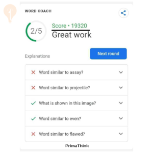 google word coach play primathink
