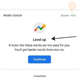 Google Coach level primathink