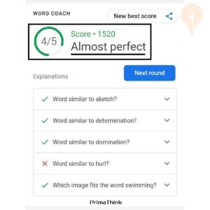 Google Coach almost perfect