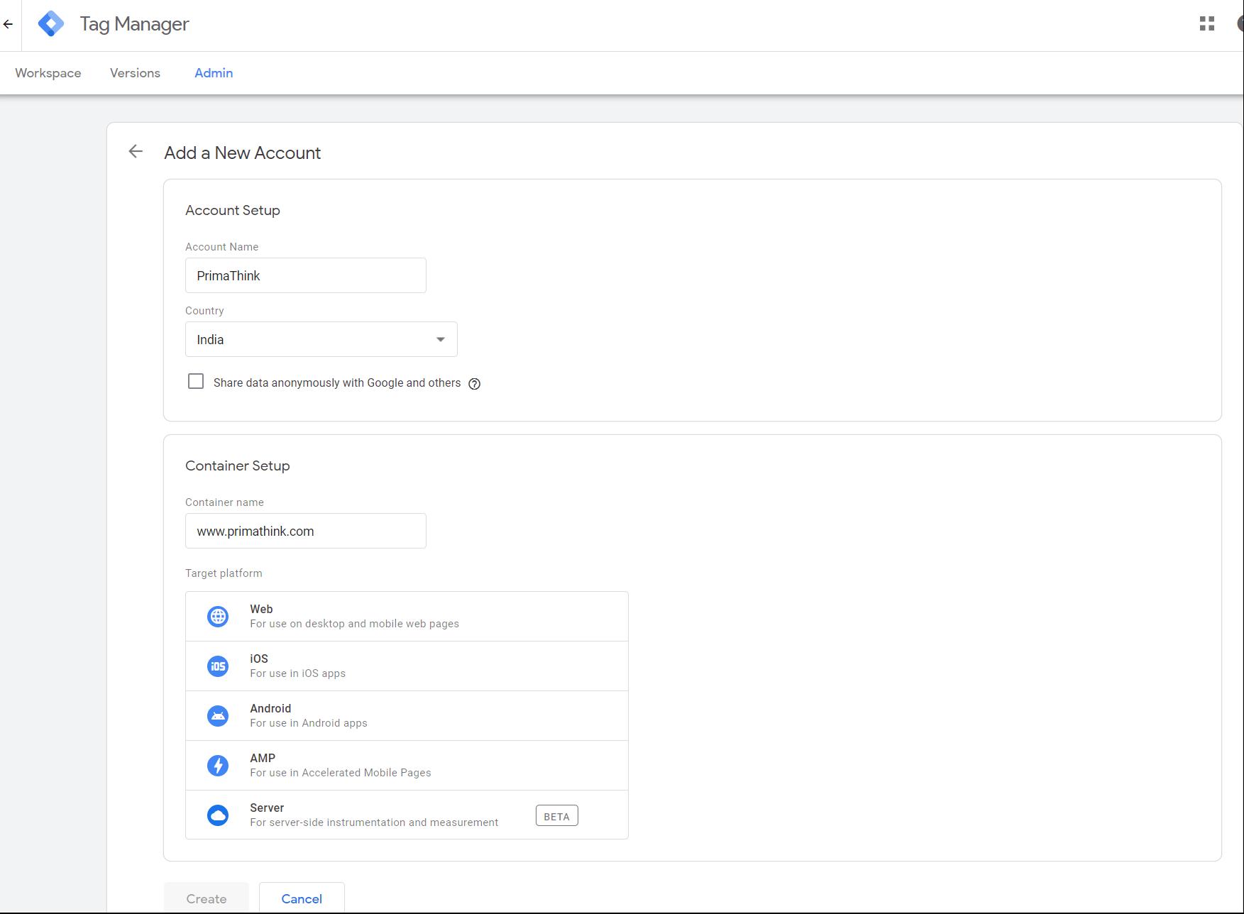 Google tag manager set up